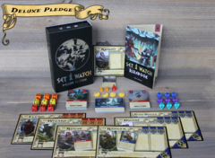 Set a Watch: kickstarter exclusive DELUXE edition board game in hand