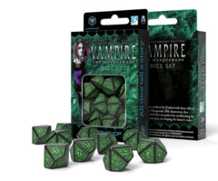 Q-Workshop Dice: PRESALE Vampire the Masquerade 20th anniversary edition 10d10 set