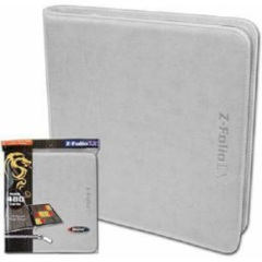 BCW: WHITE 12 pocket 480-card playset zippered LX binder