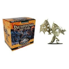 Pathfinder Battles Miniatures GARGANTUAN Brinebones, Skeletal Dragon Skull & Shackles promo