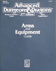 AD&D Dungeons & Dragons RPG: Arms and Equipment Guide 2nd edition TSR