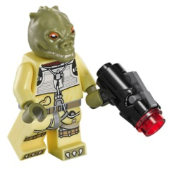 LEGO Star Wars: Bossk bounty hunter minifigure + blaster 75167 authentic