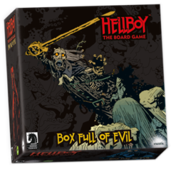 Hellboy: Box Full of Evil kickstarter exclusive expansion board game mantic in hand