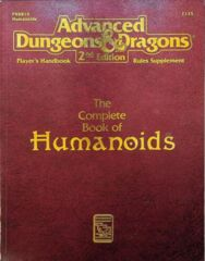 AD&D Dungeons & Dragons RPG: Complete Book of Humanoids TSR
