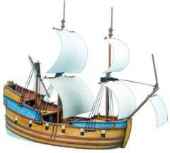 Blood & Plunder: Fluyt Ship miniature model