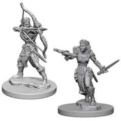 D&D Nolzur's Marvelous Unpainted Minis: Elf Female Rangers (pack of 2)