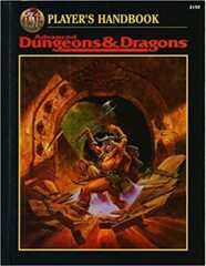 AD&D Dungeons & Dragons RPG: Player's Handbook 2nd edition TSR 2159 1996