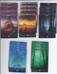 playset of 20 basic full art lands