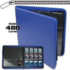 BCW: BLUE 12 pocket 480-card playset zippered LX binder
