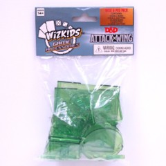 D&D Dungeons & Dragons Attack Wing: GREEN base and peg Set