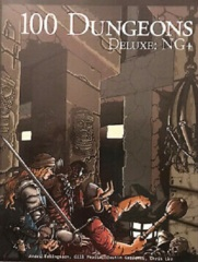 100 Dungeons: Deluxe hardcover book for fantasy roleplaying rpg