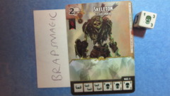 Dungeons & Dragons Dice Masters: Skeleton, Lesser (common)