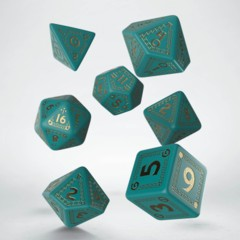 Q-Workshop Dice: PRESALE Runequest turquoise + gold set