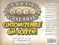 Savage Worlds Roleplaying Game RPG: Customizable Gamemaster's Screen