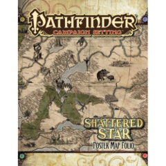 Pathfinder Campaign Setting RPG Roleplaying Game: Shattered Star poster map folio