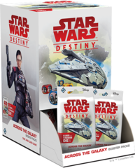 Star Wars Destiny Dice Building Game: Across the Galaxy Booster Pack Display (36-count)