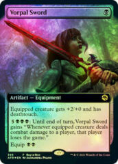 Vorpal Sword buy-a-box extended art FOIL promo Adventures in the Forgotten Realms