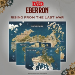 D&D 5th edition: PRESALE Eberron - Rising from the Last War Nations of Khorvaire Map Set GF9