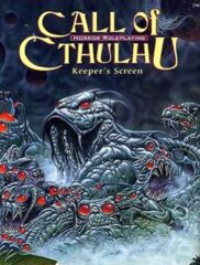 Call of Cthulh RPG: Keeper's Screen + mini adventure chaosium 2387