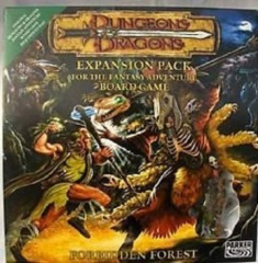 Dungeons & Dragons: Forbidden Forest expansion Fantasy Adventure Board Game parker brothers