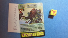Dungeons & Dragons Dice Masters: Dwarf Cleric, Paragon Lords Alliance (rare)