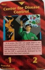 Illuminati - New World Order CCG: Center for Disease Control