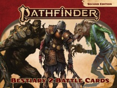 Pathfinder RPG: PRESALE 2nd edition P2 Bestiary 2 Battle Cards paizo