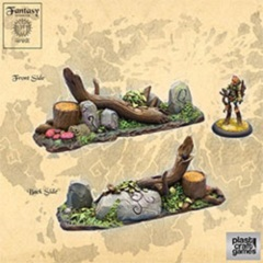 Plastic Craft Games: Forest Barricade (28mm gaming terrain) NM103