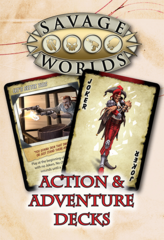 Savage Worlds Roleplaying Game RPG: Action and Adventure Decks