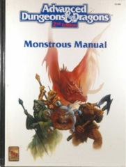 AD&D Dungeons & Dragons RPG: Monstrous Manual 2nd edition TSR