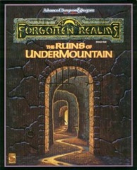 AD&D Dungeons & Dragons: The Ruins of Undermountain boxed set mostly complete