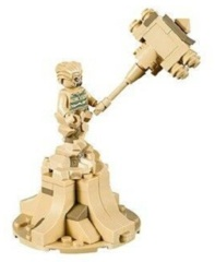 LEGO Spider-Man: Sandman minifigure + hammer 76114 (authentic)