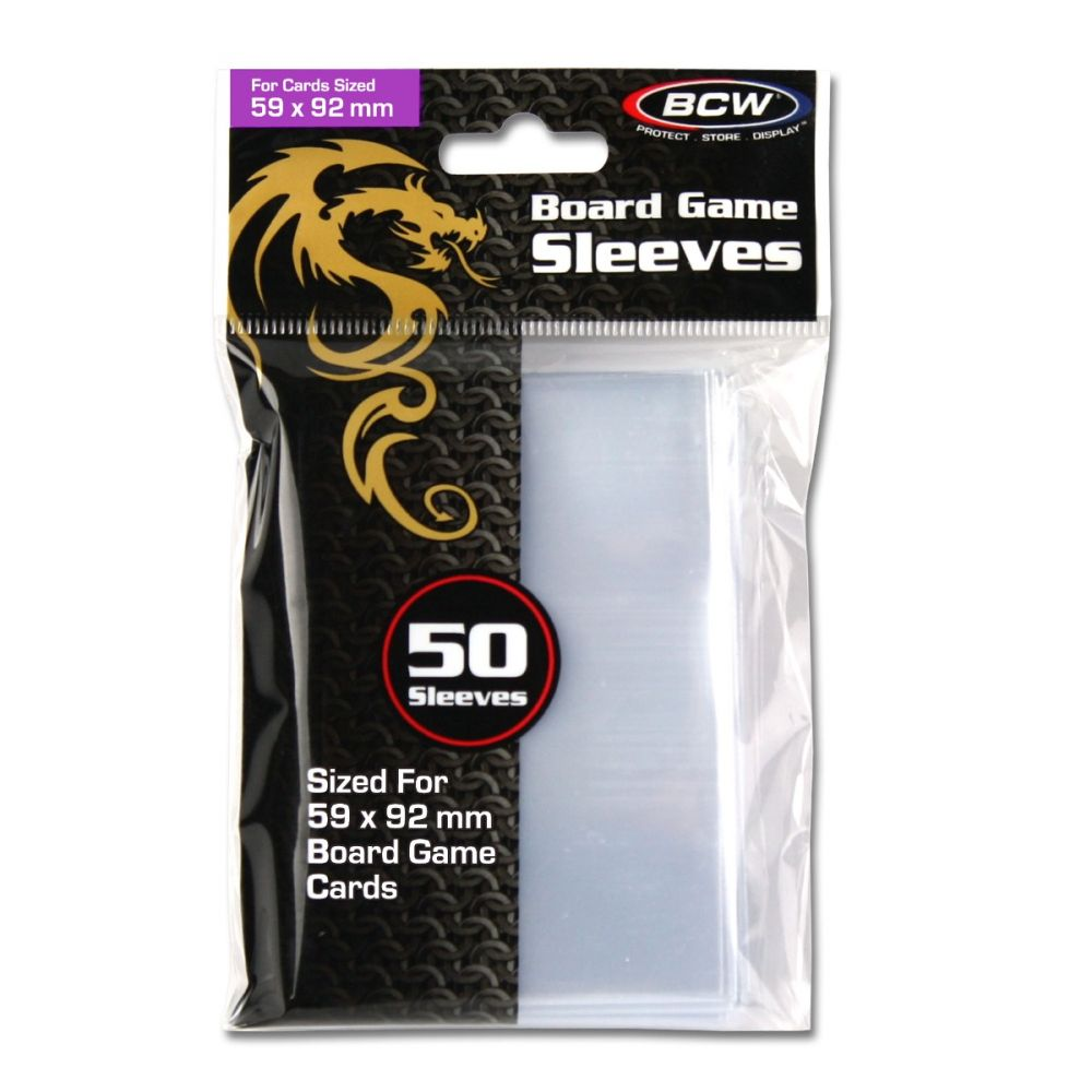 BCW: Board Game Sleeves - 59mm X 92mm (50 Count)
