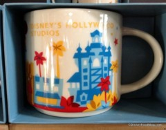 "Disney Hollywood Studios Starbucks ""You Are Here"" Mug Yellow/Red"