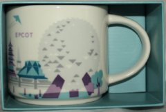 "Disney Epcot Starbucks ""You Are Here"" Mug in Silver"