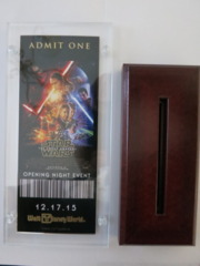 Star Wars Special Limited Edition Opening Night Ticket EP VII TFA