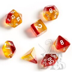 Dice Set - Yellow + Red