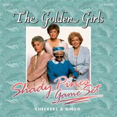 Checkers - The Golden Girls Shady Pines Game Set Checkers And Bingo