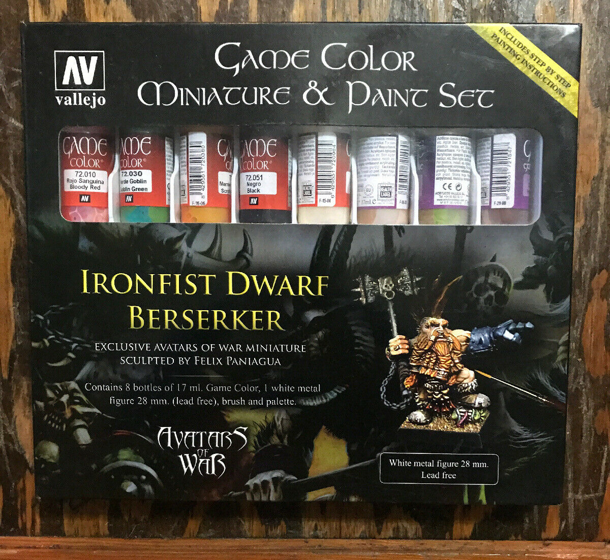 Game Color: Dwarf Berserker and Paint Set