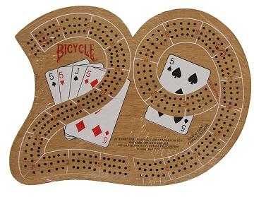 Cribbage Board Large 29 Wood