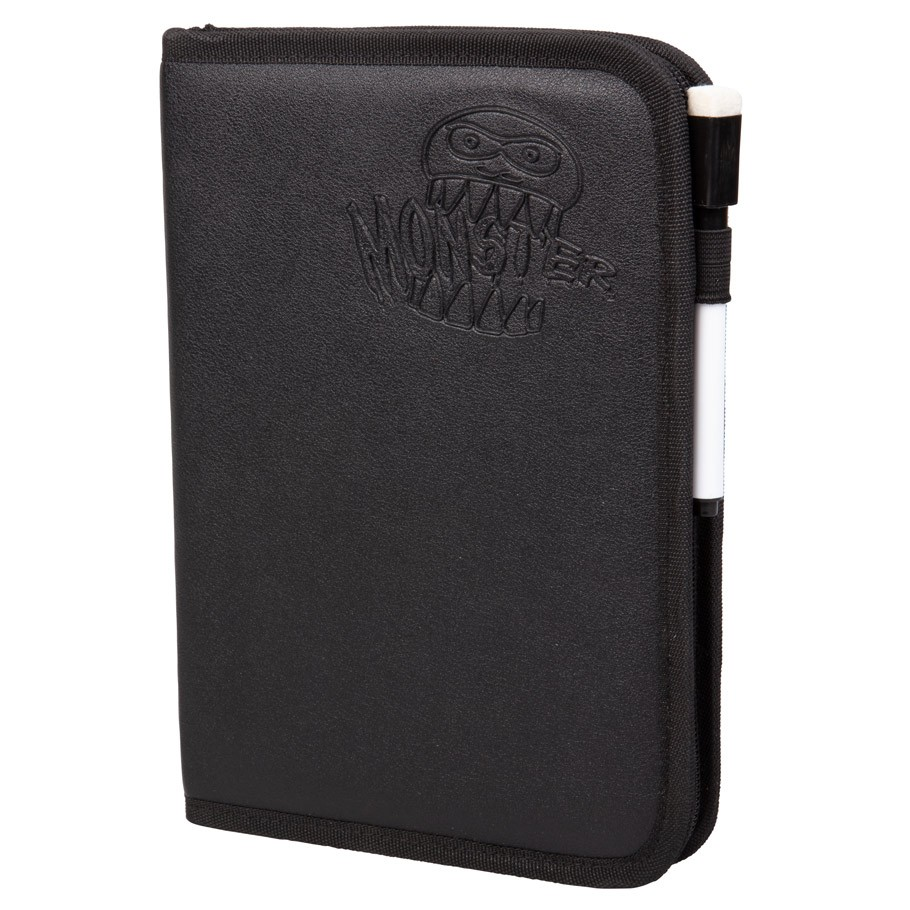 Monster Dexluxe Zipperbound 4-Pocket Binder -Black (160 cap.)