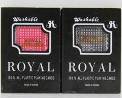 Royal - BRIDGE SIZE Plastic Playing Cards