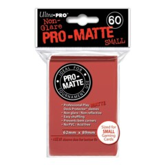 Pro-Matte Small Sleeves - Red 60ct.