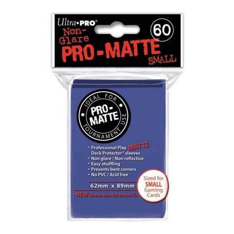 Pro-Matte Small Sleeves - Blue 60ct.