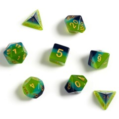 Dice Set - Green + Blue