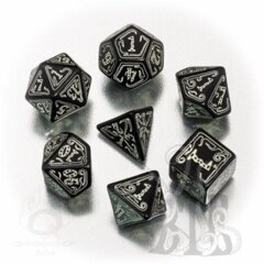 Cthulhu Black Glow in the Dark 7 Dice set