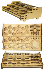 Portable Warfare Paint/Tool Rack 25 mm Hole
