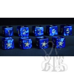 Elder Dice D6 Set - Astral Star Sign