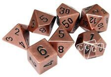 7-Die Solid Metal Copper Chessex