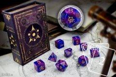Infinite Black - Elder Dice: 9Ct Polyhedral Set - Sigil of the Dreamlands (Purple)